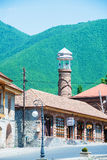 sheki城市在阿塞拜疆 库存照片