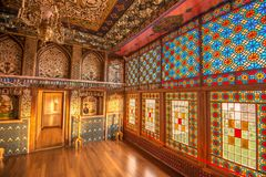 Sheki: Khan Winter Palace, binnen Royalty-vrije Stock Foto