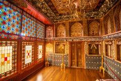 Sheki: The Khan Winter Palace, inside. Royalty Free Stock Images