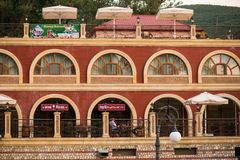Sheki Palace Hotel on the road to the Sheki Khan Palace royalty free stock image