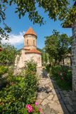 Sheki Tourist Destination in Caucasus Mountains an Albanian Church. In the Caucasus Mountains the town of Sheki is an undiscovered jewel for the tourist looking royalty free stock photo