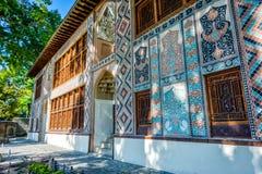 Sheki Xan Sarayi, paleis van sheki Khans Stock Afbeelding