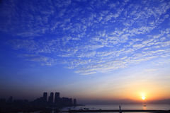 Shekou bay sunrise Royalty Free Stock Photos