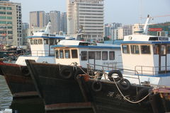 Shekou fishing port in SHENZHEN CHINA AISA Stock Photo