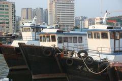 Shekou fiskeport i SHENZHEN KINA AISA Arkivfoto