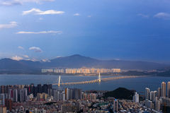Shekou, Shenzhen, Guangdong, paysage urbain de la Chine photo stock