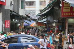 Shekou vegetable market in SHENZHEN Royalty Free Stock Photo