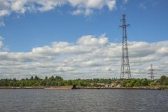 The Sheksna Reservoir in Sheksninsky Districts of Vologda Region. Russia Stock Photo