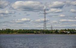The Sheksna Reservoir in Sheksninsky Districts of Vologda Region. Russia Stock Photography