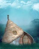 Shel fairy house Stock Photo
