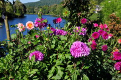Shelburne Falls, MA: Bridge of Flowers Stock Photos
