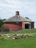 Shelburne Museum. The round barn at Shelburne Museum sits at the entrance to welcome visitors to this popular and interesting place in Vermont with all it's Stock Photography