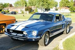 Shelby. This is the restored 1968 Shelby fastback stock image