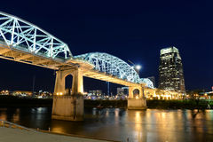 Shelby Bridge em Nashville do centro foto de stock royalty free