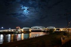 Shelby Bridge i Nashville Tennessee Royaltyfri Bild
