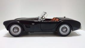 Shelby Cobra cabrio roadster in black Stock Photos