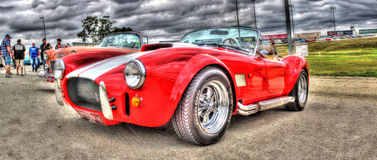 Shelby Cobra rossa fotografia stock