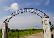 Shelby County Archway in Shelby Farms in Memphis royalty-vrije stock afbeeldingen