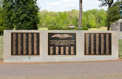Shelby County World War Two Veterans Memorial Plaque Stock Photos