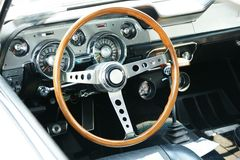 Shelby Dashboard. Dashboard vintage car, 1967 Ford Mustang Shelby royalty free stock image