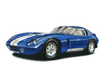 Shelby Daytona Cobra Coupe libre illustration