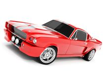 Shelby Mustang GT500. Realistic render three-dimensional model of the red  Shelby Mustang GT500 of 1967 Royalty Free Stock Photos