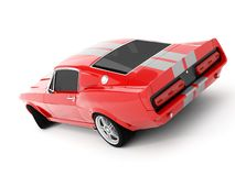 Shelby Mustang GT500. Realistic render three-dimensional model of the red  Shelby Mustang GT500 of 1967 Royalty Free Stock Images