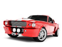 Shelby Mustang GT500. Realistic render three-dimensional model of the red  Shelby Mustang GT500 of 1967 Stock Photo
