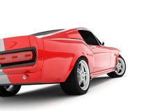 Shelby Mustang GT500. Realistic render three-dimensional model of the red  Shelby Mustang GT500 of 1967 Royalty Free Stock Photography