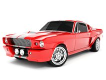 Shelby Mustang GT500. Realistic render three-dimensional model of the red  Shelby Mustang GT500 of 1967 Stock Photography