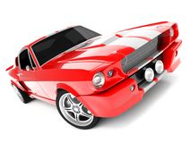 Shelby Mustang GT500. Realistic render three-dimensional model of the red  Shelby Mustang GT500 of 1967 Stock Image