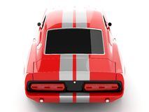 Shelby Mustang GT500. Realistic render three-dimensional model of the red  Shelby Mustang GT500 of 1967 Royalty Free Stock Image