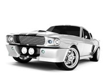 Shelby Mustang GT500. Realistic render three-dimensional model of the silvery  Shelby Mustang GT500 of 1967 Stock Image