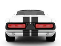 Shelby Mustang GT500. Realistic render three-dimensional model of the silvery  Shelby Mustang GT500 of 1967 Stock Photography