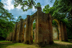 Sheldon Church Ruins. Yemassee, South Carolina royalty free stock photo
