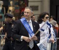 Sheldon Silver bij 2015 viert Israel Parade in New York Stock Fotografie