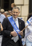 Sheldon Silver bij 2015 viert Israel Parade in New York Royalty-vrije Stock Afbeelding