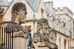 Sheldonian Statues. Oxford,  England Royalty Free Stock Photography