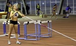 Shelekh Hanna gewann das ukrainische Cup in der Athletik Stockbilder