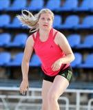 Shelekh Hanna on Ukrainian T&F Championships Stock Photos