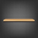 Shelf On Abstract Metal Background Royalty Free Stock Images