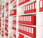 Shelf archive folder Stock Photos