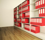 Shelf archive folder. The shelf archive folder Background Royalty Free Stock Photography