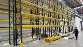 The shelf being ready for storaging material in the plant China Royalty Free Stock Photo