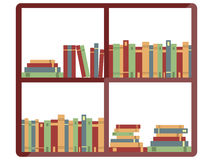 Shelf with books, bookstore, books on a shelves in library, flat books, Vector. Illustration Royalty Free Stock Photography