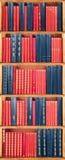 Shelf of books Stock Photos