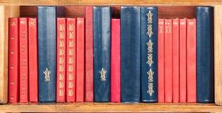 Shelf of books Stock Images