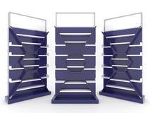 Shelf cabinet design with dark bule color backing royalty free illustration