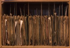 A shelf of filed records Royalty Free Stock Images
