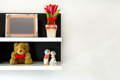 Shelf decoration Stock Photography